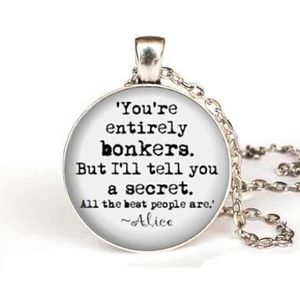 Jewelry - 🌟4/$20🌟 Bonkers Alice in Wonderland Necklace NEW